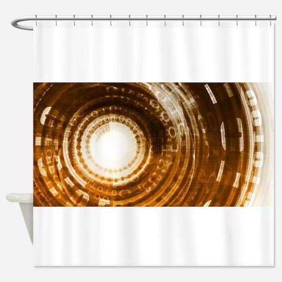 Binary Data Abstract Shower Curtain