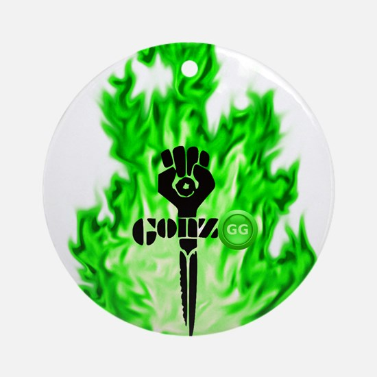 Gonzo Green Round Ornament