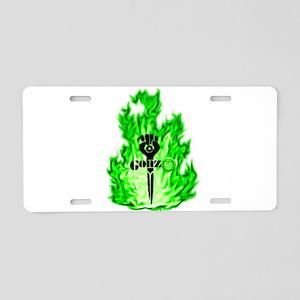 Gonzo Green Aluminum License Plate
