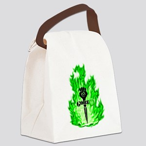 Gonzo Green Canvas Lunch Bag