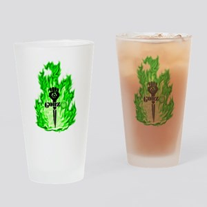 Gonzo Green Drinking Glass