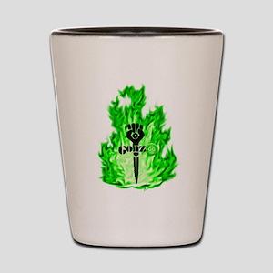 Gonzo Green Shot Glass