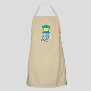 Silly Bunny in Top Hat BBQ Apron