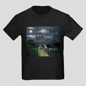 Moonlit Castle Kids Dark T-Shirt