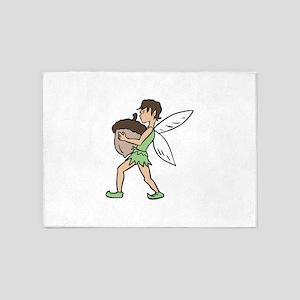 Fairy With Acorn 5'x7'Area Rug