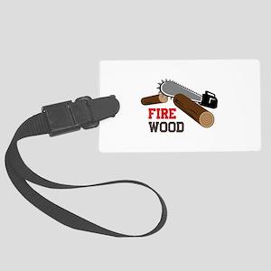 Fire Wood Luggage Tag