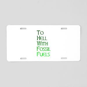 Gonzo Green 3 Aluminum License Plate