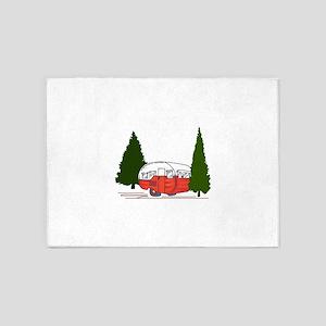 Vintage Camping 5'x7'Area Rug