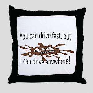 4x4 Drive anywhere! Throw Pillow