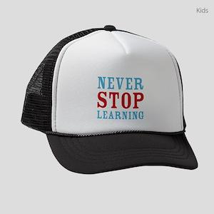 Never Stop Learning Kids Trucker hat