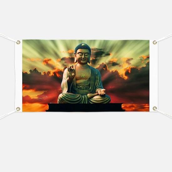 Cute Buddha Banner