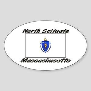 North Scituate Massachusetts Oval Sticker