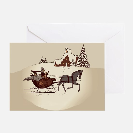 Christmas Past (plain) Greeting Card