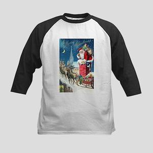 Vintage Santa Christmas Baseball Jersey