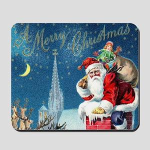 Vintage Santa Christmas Mousepad
