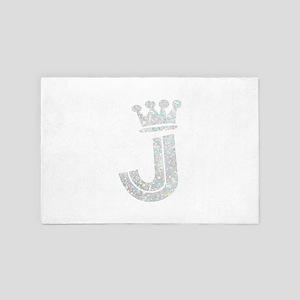 J, Alphabet 4' x 6' Rug