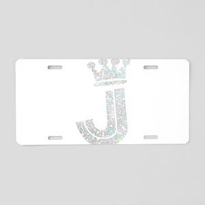 J, Alphabet Aluminum License Plate