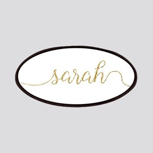 Gold Glitter Sarah Patch