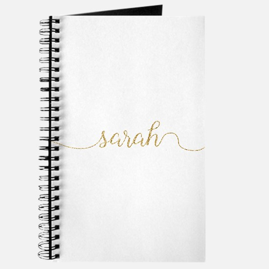 Gold Glitter Sarah Journal