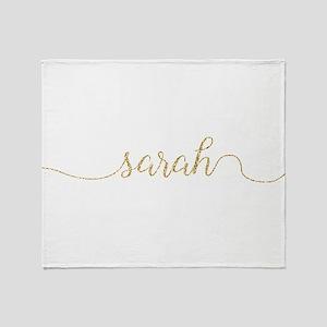 Gold Glitter Sarah Throw Blanket