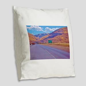 Grapevine CA Burlap Throw Pillow