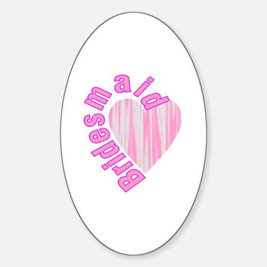 Funny Will you be my bridesmaid Sticker (Oval)