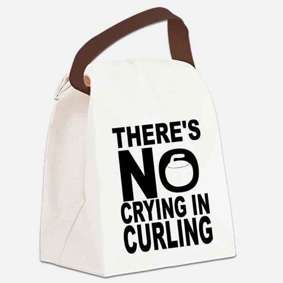 There's No Crying In Curling Canvas Lunch Bag