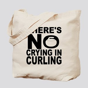 There's No Crying In Curling Tote Bag
