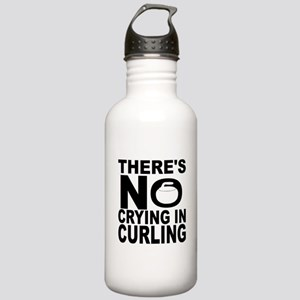 There's No Crying In Curling Water Bottle