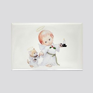 Cute Christmas Baby Angel And Cat Magnets