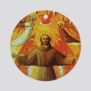 Ecstasy of Saint Francis Round Ornament