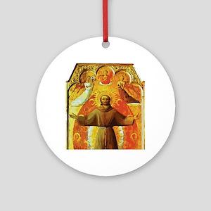 Ecstasy of Saint Francis Round Ornament