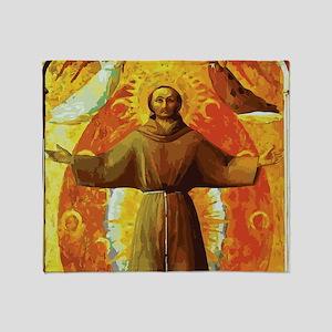 Ecstasy of Saint Francis Throw Blanket