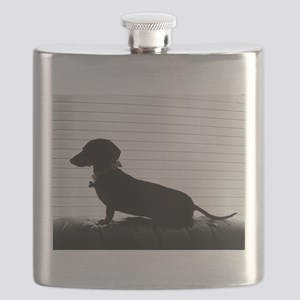 Dachshund in the window Flask