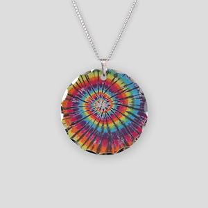Deep Rainbow Swirl Tie-Dye Necklace