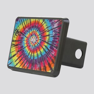 Deep Rainbow Swirl Tie-Dye Hitch Cover