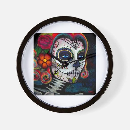 Cute Skull Wall Clock