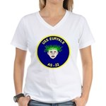 USS Euryale (AS 22) Women's V-Neck T-Shirt