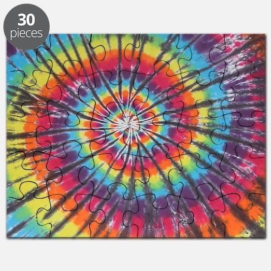 Deep Rainbow Swirl Tie-Dye Puzzle