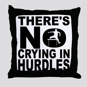 There's No Crying In Hurdles Throw Pillow