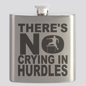There's No Crying In Hurdles Flask