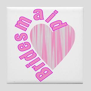 pink bachelorette party bridesmaid Tile Coaster