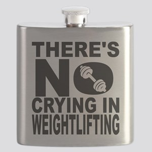 There's No Crying In Weightlifting Flask