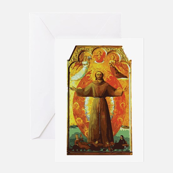 Ecstasy of Saint Francis Greeting Cards