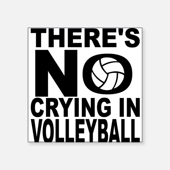 There's No Crying In Volleyball Sticker