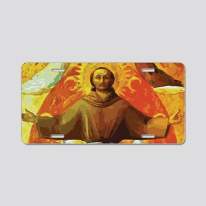 Ecstasy of Saint Francis Aluminum License Plate