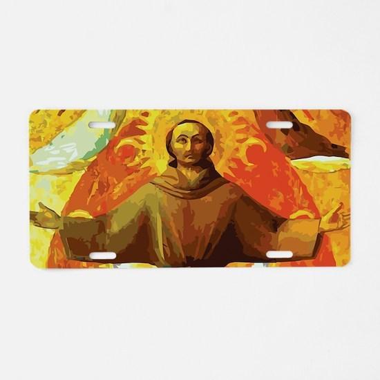 Ecstasy of Saint Francis Aluminum License Plate