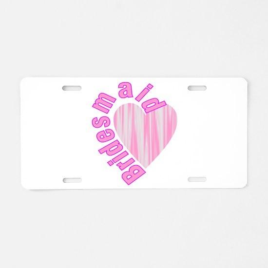 pink bachelorette party bri Aluminum License Plate