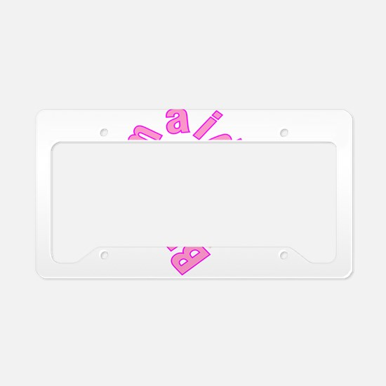 pink bachelorette party bride License Plate Holder