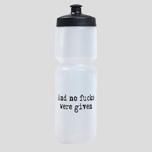 No fucks were given Sports Bottle